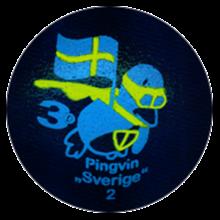 "3D Pingvin ""Sverige 2"" KL (Struktur)"