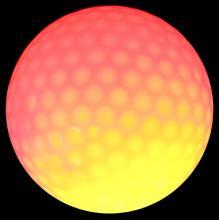 "LED-Golfball ""rot"""